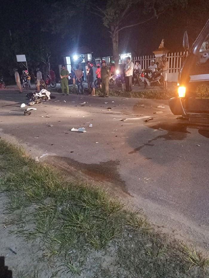 Hiện trường vụ tai nạn trên đường Nguyễn Tri Phương