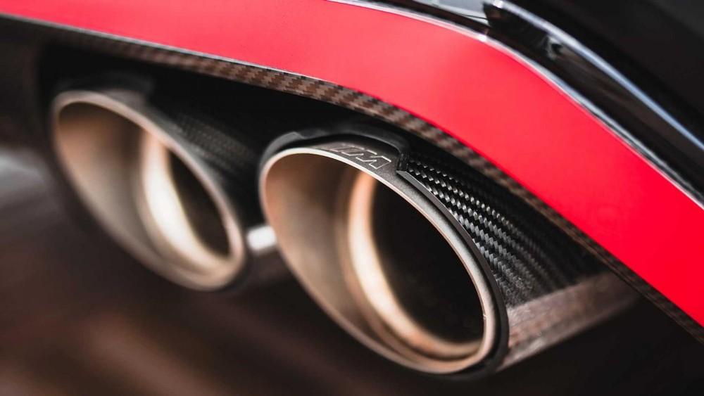 Nắp chụp đầu ống xả bằng sợi carbon