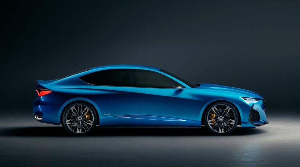 Phía bên sườn của Acura Type S Concept