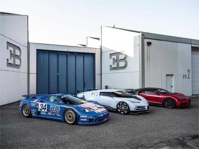 5 lỗ hình tròn nằm ngay sau cửa sổ bên sườn của Bugatti Centodieci rõ ràng là gợi nhớ đến EB110 Super Sport