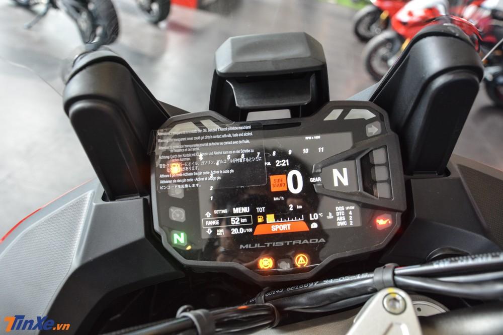 Động cơ của Ducati Multistrada 1260 Enduro 2019 có thêm hệ thống van biến thiên DVT