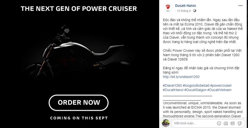Hình ảnh được Ducati Việt Nam chia sẻ