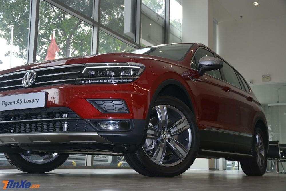 Volkswagen Tiguan Allspace Luxury có thiết kế không đổi so với bản tiêu chuẩn
