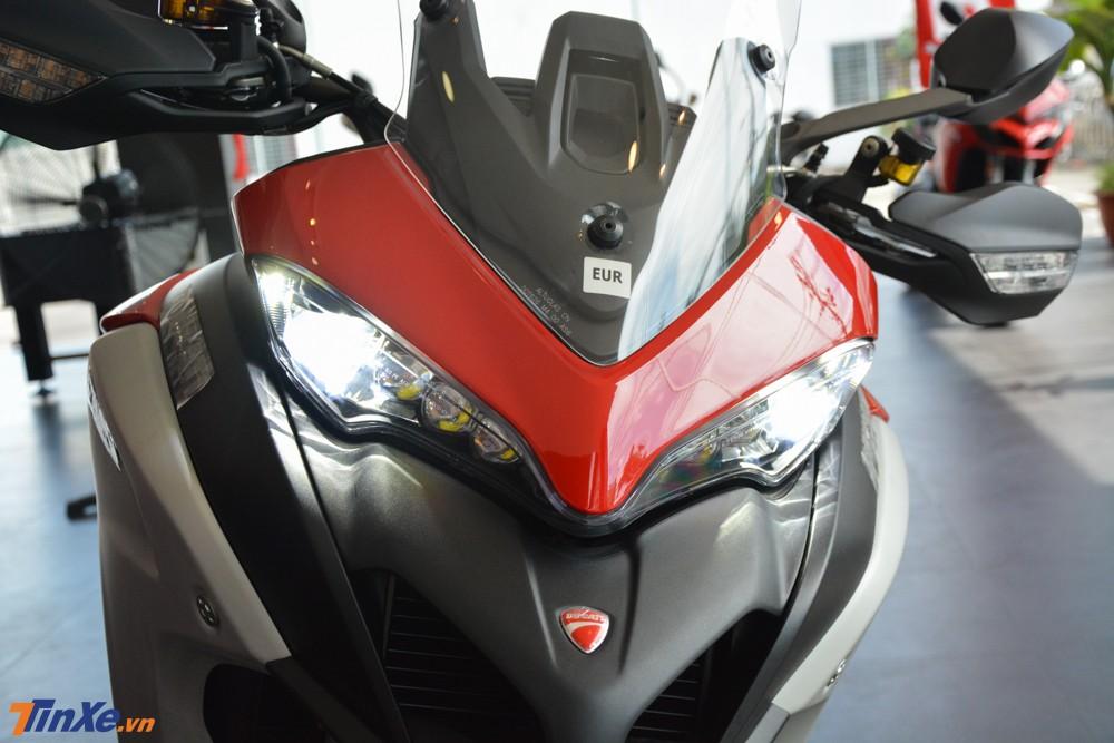 Đèn pha Full LED của Ducati Multistrada 1260 Enduro 2019