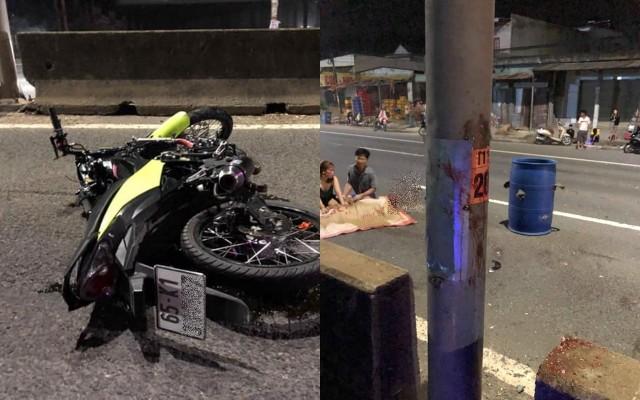 Hiện trường vụ tai nạn trên Quốc Lộ 51 đoạn qua Biên Hòa - Đồng Nai (Ảnh: Facebook)
