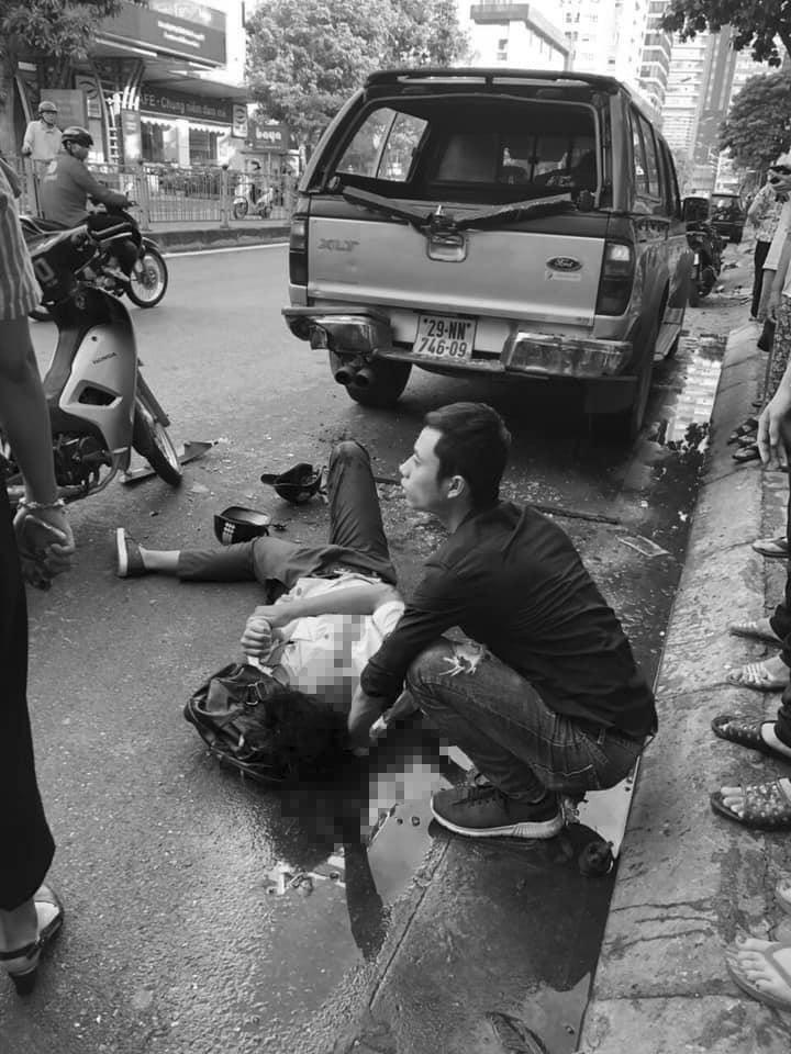 Hiện trường vụ tai nạn trên đường Vũ Trọng Phụng