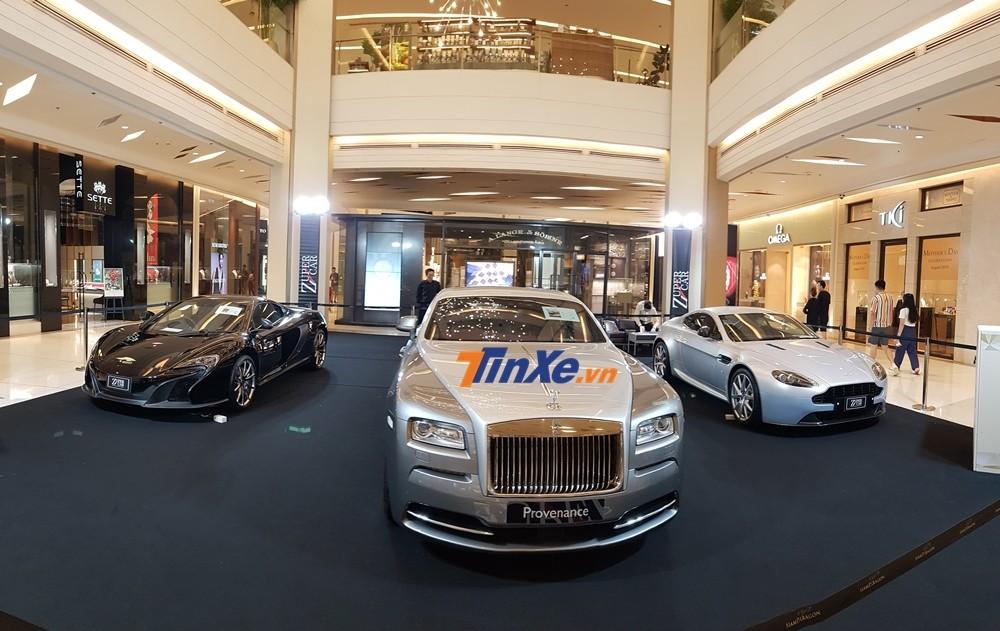 Dàn siêu xe và xe siêu sang trưng bày tại Siam Paragon
