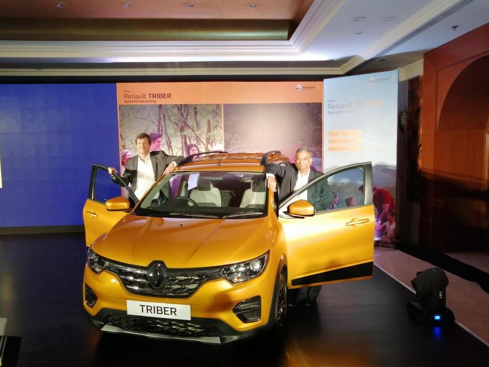 Thiết kế đầu xe của Renault Triber 2019