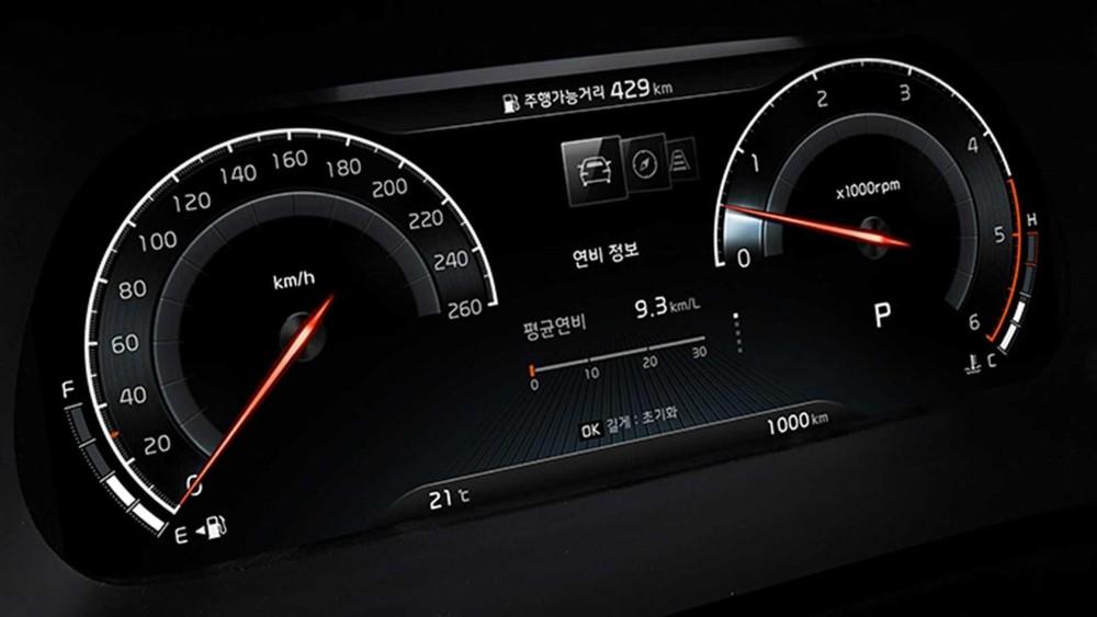 Bảng đồng hồ kỹ thuật số toàn phần với màn hình 12,3 inch của Kia Mohave 2020