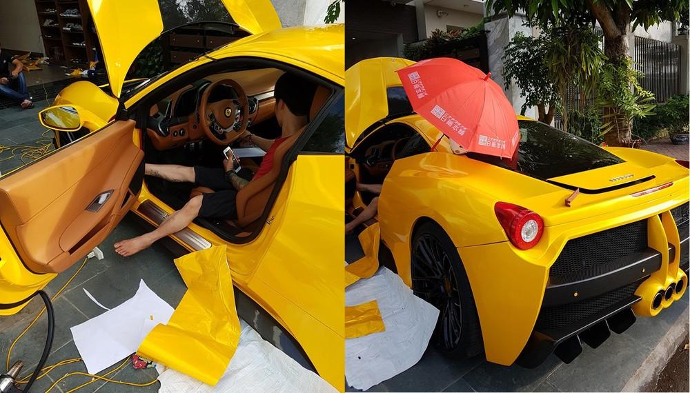Và đây là ngoại thất chiếc xe Ferrari 458 Italia độ body kit Misha Designs khi về Hải Phòng định cư