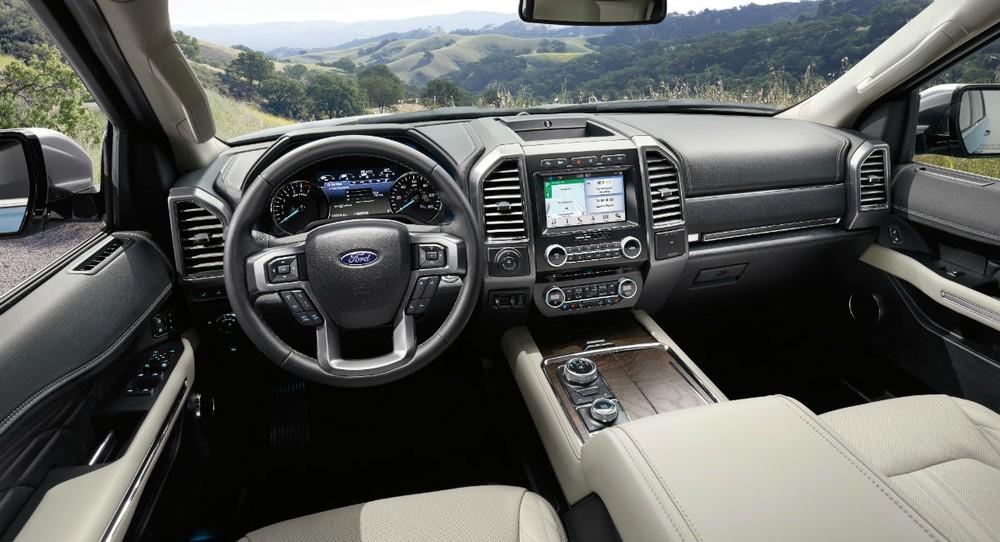 Nội thất của Ford Expedition thế hế mới đầy hiện đại và sang trọng