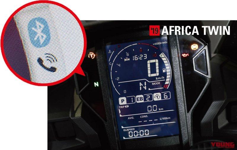 Honda Africa Twin 1100 2020 sẽ trang bị màn hình màu có kết nối Bluetooth