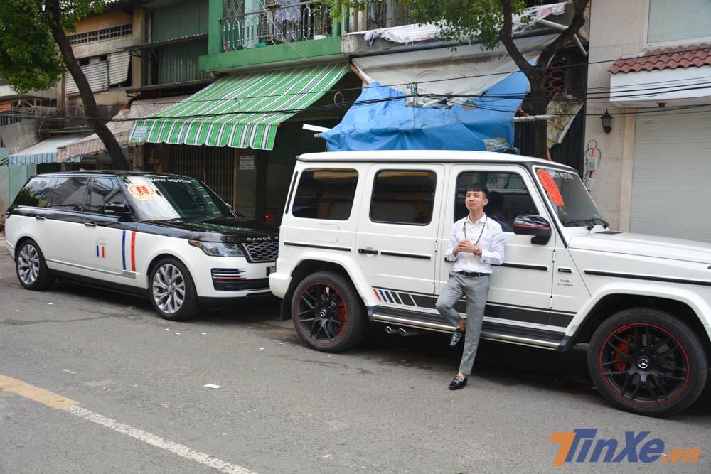 Buổi lễ rước dâu con gái Minh Nhựa đã thu hút hơn 16 chiếc xe SUV hạng sang tham dự