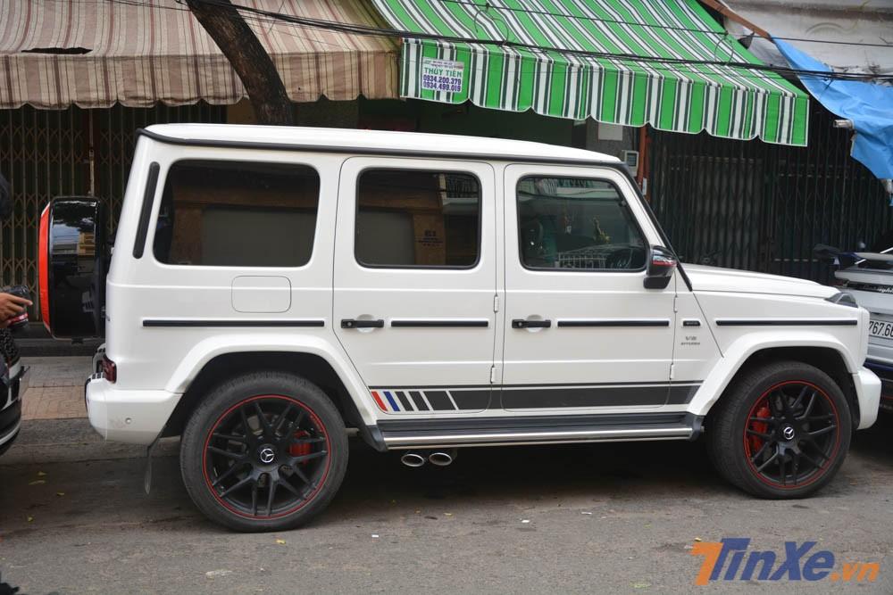 Hiện tại, số lượng xe SUV hạng sang Mercedes-AMG G63 Edition 1 mang màu trắng tại Việt Nam dưới 5 chiếc