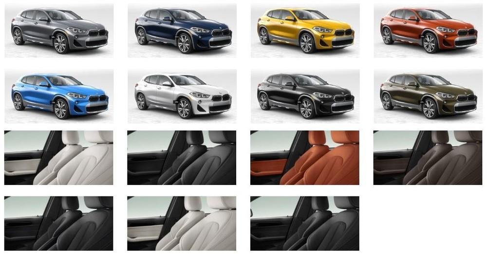 Bảng màu ngoại thất và nội thất BMW X2 M Sport