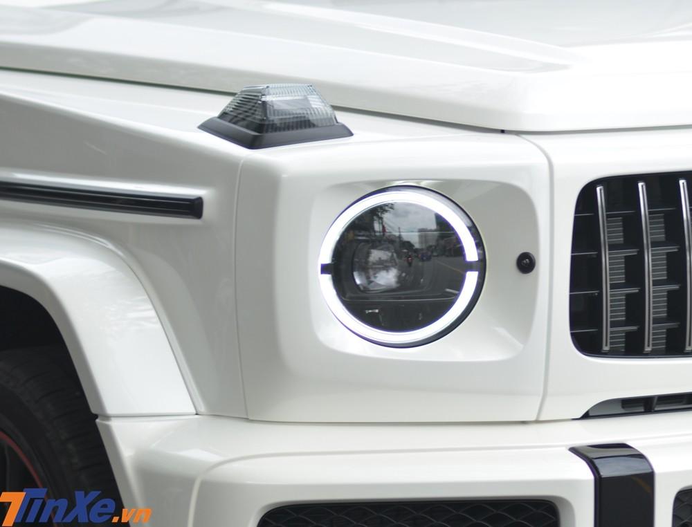 Đèn pha của Mercedes-AMG G63 Edition 1 thiết kế lại và sử dụng công nghệ LED toàn phần
