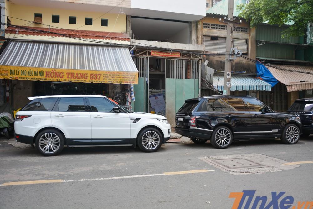 Cặp đôi Range Rover Sport HSE và Range Rover Autobiography xuất hiện trong đoàn xe đưa dâu con gái Minh Nhựa.