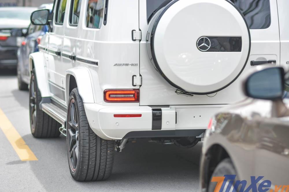 Phần đuôi xe của Mercedes-AMG G63 Edition 1 có đèn hậu LED thiết kế gọn hơn