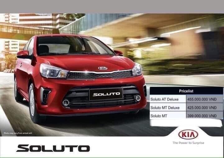 Giá dự kiến của KIA Soluto sẽ khởi điểm từ 399 triệu - 425 triệu - 455 triệu.