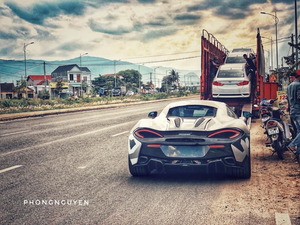 Chiếc McLaren 570S này hiện đang định cư tại Nha Trang
