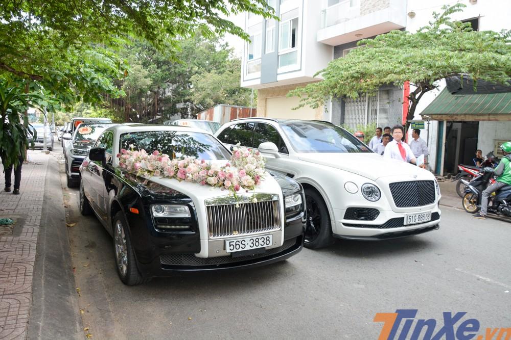 Cặp đôi xe siêu sang đưa dâu hàng đỉnh của con gái Minh Nhựa