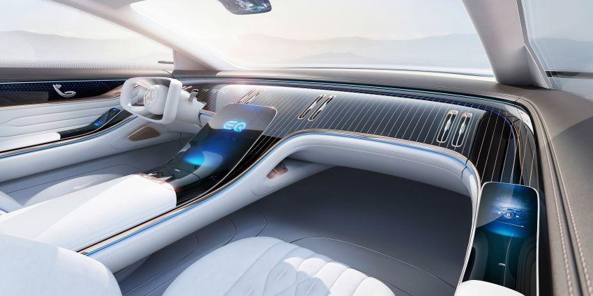 Nội thất xe điện hạng sang Mercedes-Benz Vision EQS