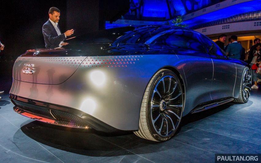 Đuôi xe điện hạng sang Mercedes-Benz Vision EQS