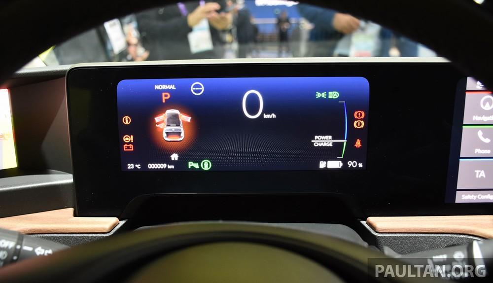 Bảng đồng hồ kỹ thuật số của Honda e