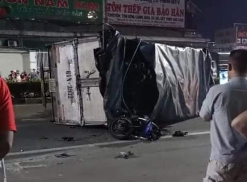 Chiếc xe côn tay Yamaha Exciter bị hỏng nặng sau tai nạn