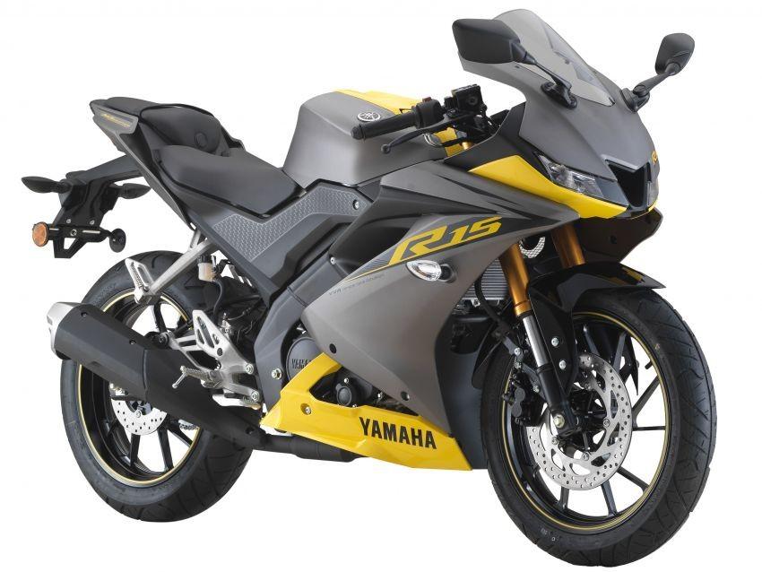 Yamaha R15 màu Xám Vàng