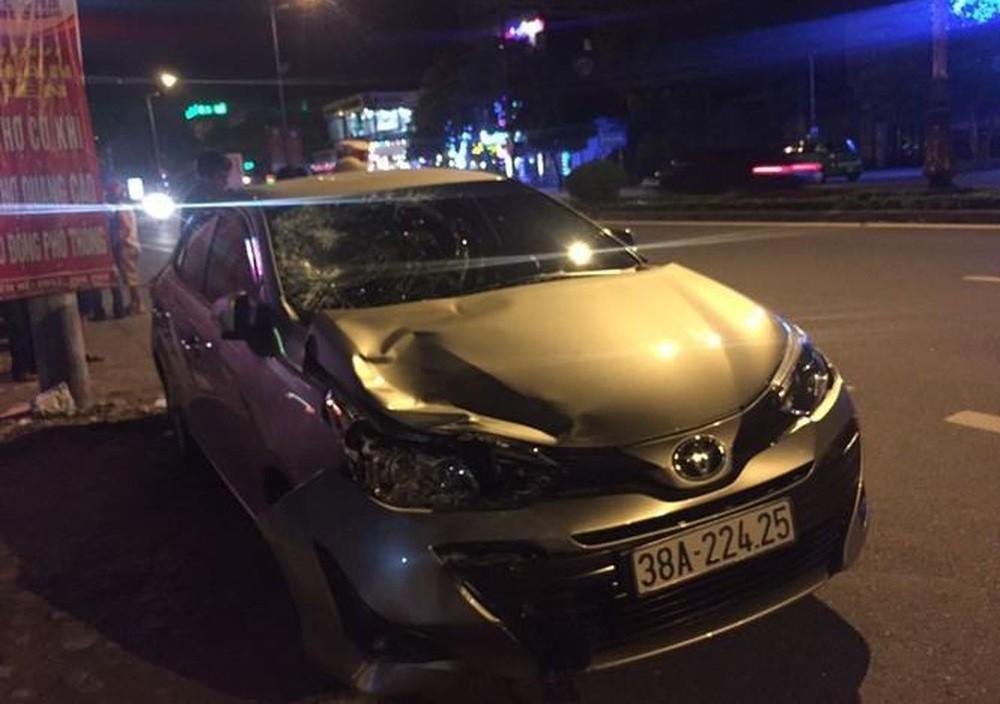 Chiếc Toyota Vios gây tai nạn