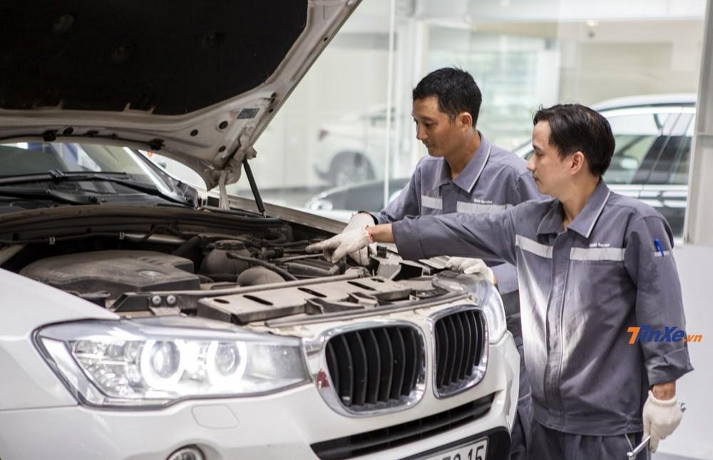 Xưởng dịch với thợ kỹ thuật tay nghề cao cùng quy trình chăm sóc, bảo dưỡng, bảo hành đạt tiêu chuẩn BMW toàn cầu.