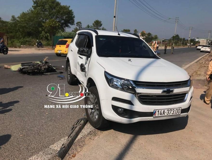 Hiện trường vụ tai nạn tại thành phố Móng Cái, tỉnh Quảng Ninh