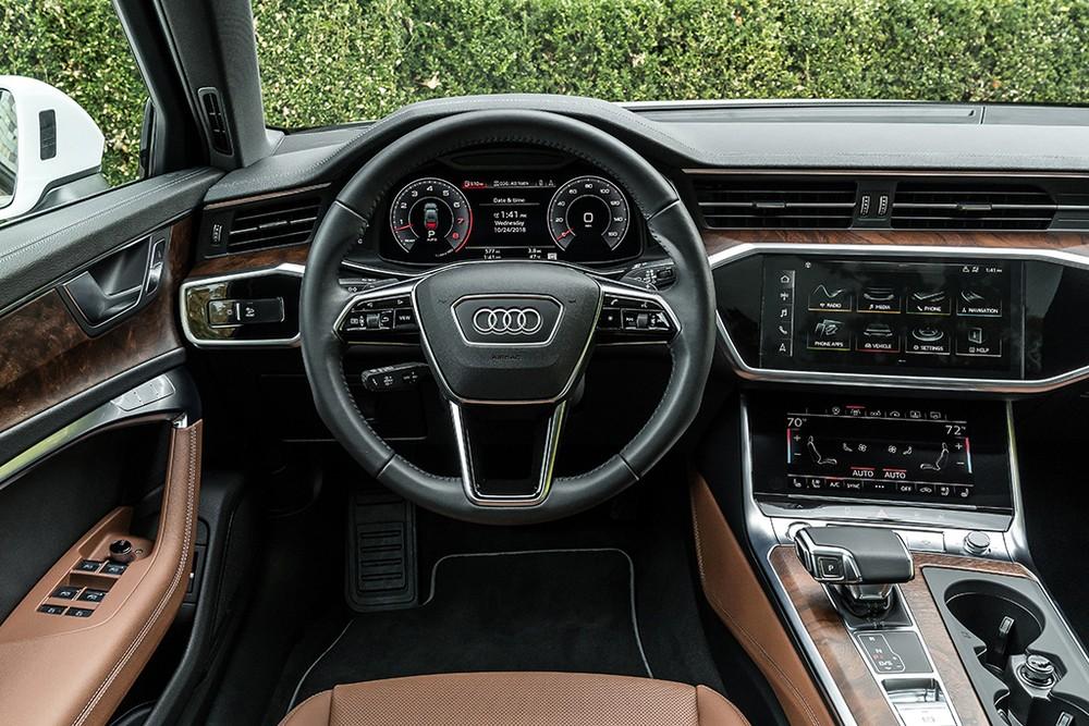 Bố trí khoang lái của Audi A6 2019