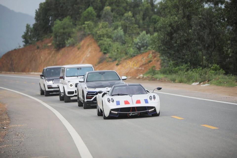 Pagani Huayra, siêu SUV Lamborghini Urus, ông vua địa hình Mercedes-AMG G63 Edition One và SUV hạng sang Range Rover Autobiography LWB 2018 của Minh Nhựa trên cao tốc hơn nửa tỷ đô la nối Đà Nẵng và Huế
