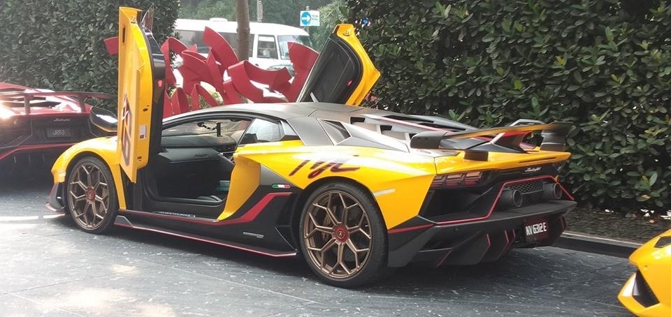 Chiếc Lamborghini Aventador SVJ 63 xuất hiện tại Singapore của một đại gia ở Malaysia