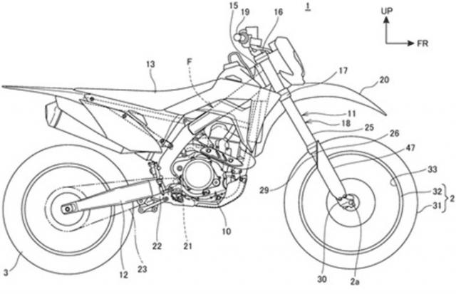 Bản vẽ phác thảo được cho là Honda CRF thế hệ mới