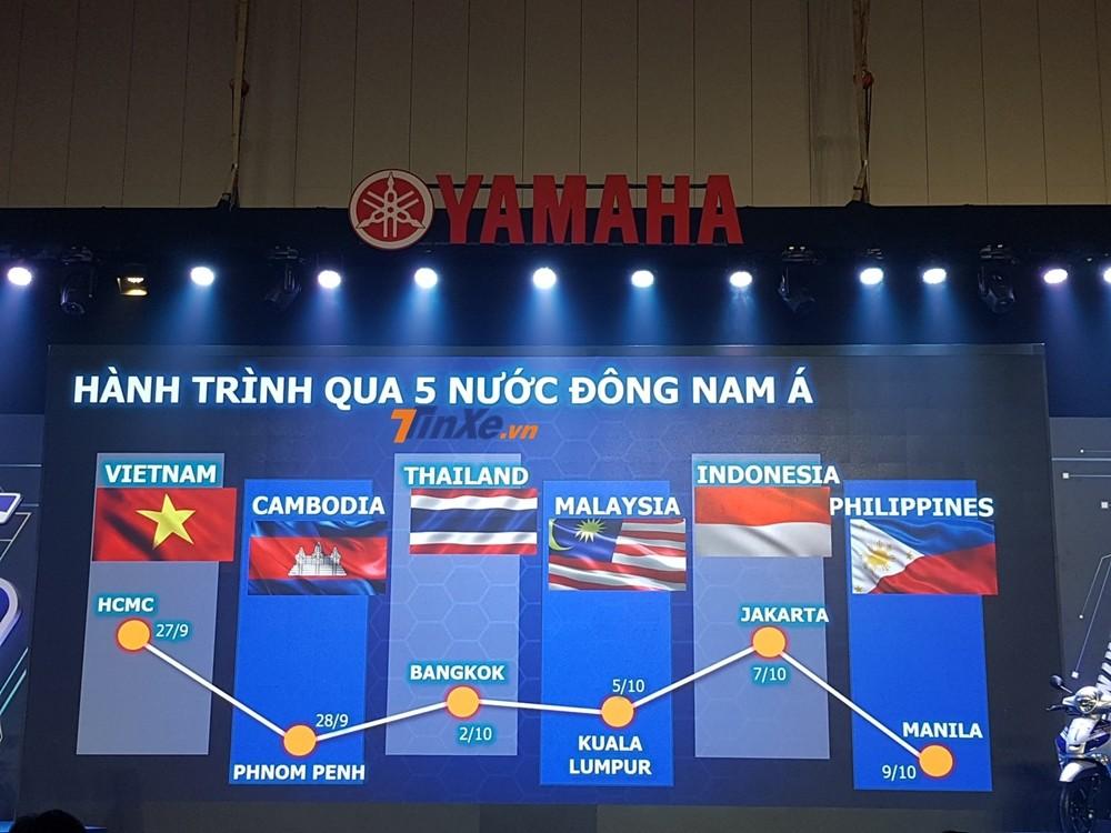 Lần đầu tiên Việt Nam có hành trình xuyên 5 nước Đông Nam Á bằng xe tay ga