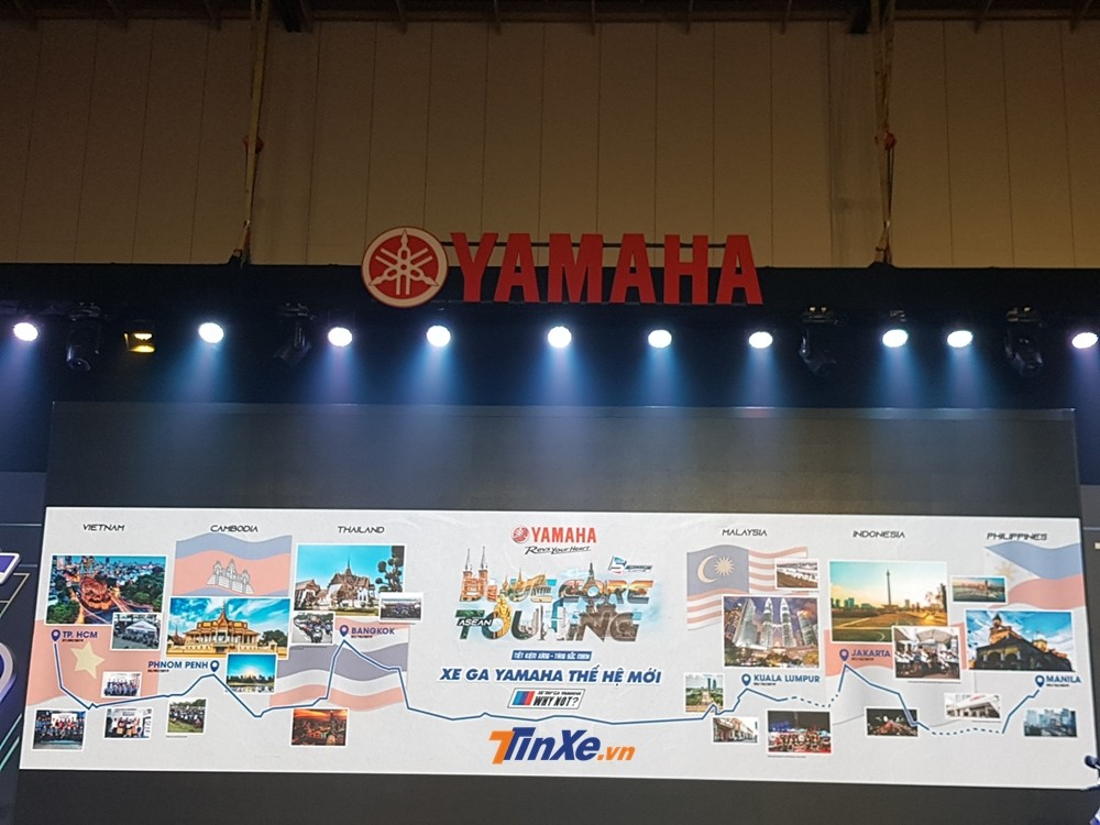 Hành trình này diễn ra trong vòng 13 ngày và đi qua các nước bạn như Campuchia, Thái Lan, Malaysia, Indonesia và kết thúc hành trình vào ngày 9/10 tại Philippines