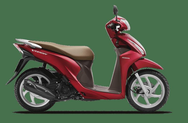 Honda Vision đỏ nâu