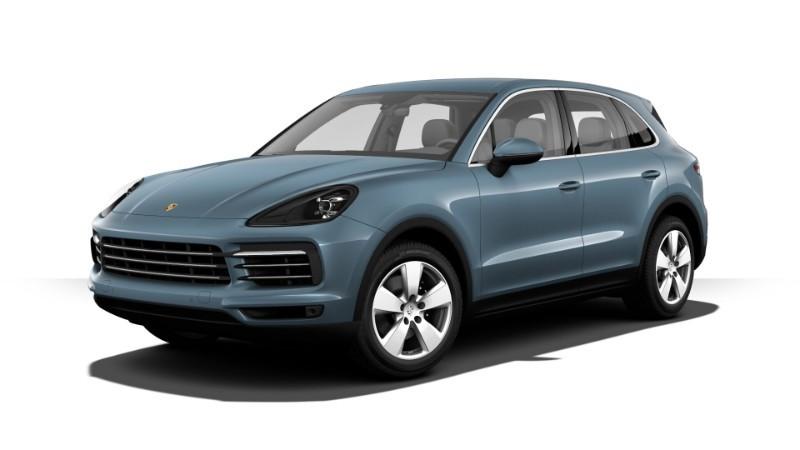 Porsche Cayenne màu xanh