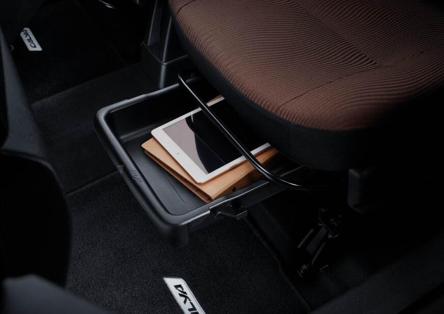 Ngăn chứa đồ bên dưới ghế của Toyota Calya 2020 bản G