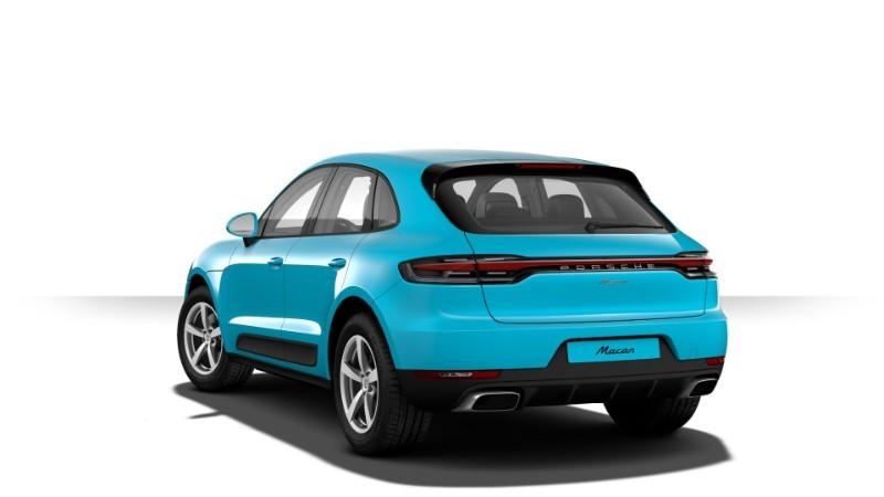 Porsche Macan màu lam Miami