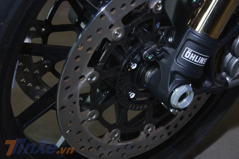 Ducati Diavel 1260S có kẹp phanh Brembo M50