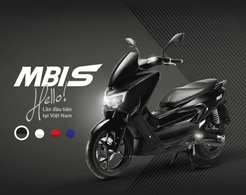MBIGO MBI S hiện có 4 tùy chọn màu sắc là Đen, Trắng, Đỏ và Xanh