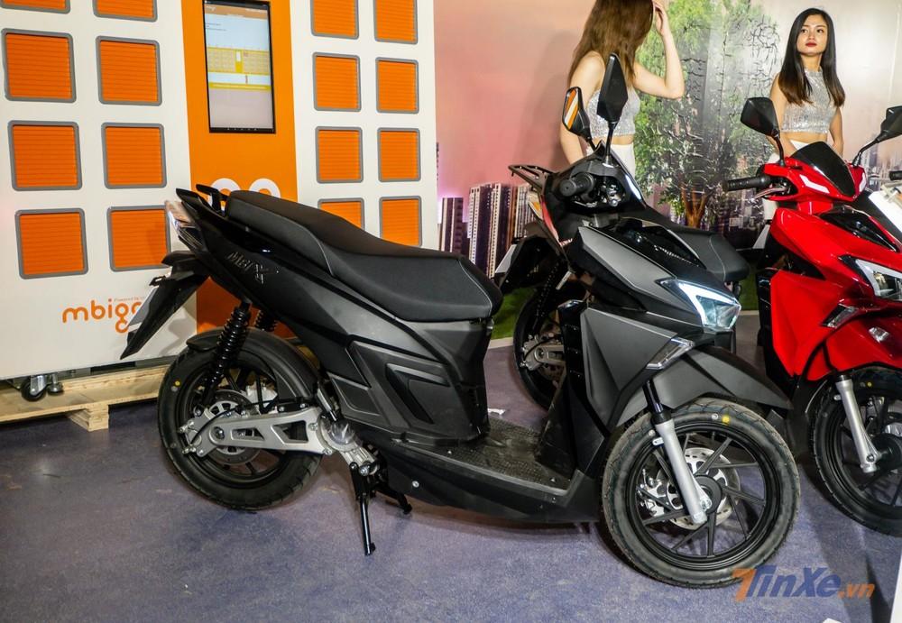 Xe máy điện MBIGO MBI X có ngoại hình khá giống với xe ga Honda Air Blade