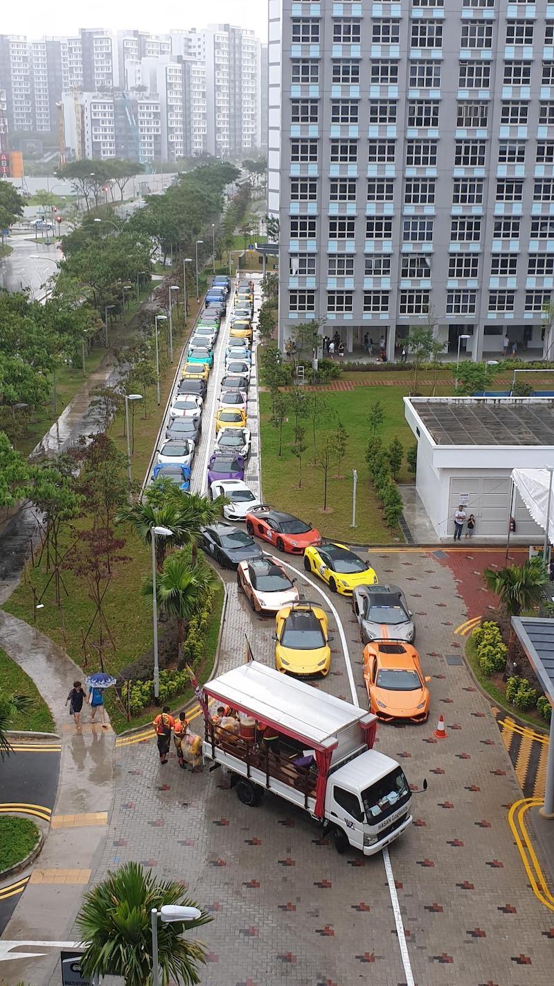 Dàn siêu xe Lamborghini tại Singapore trong sự kiện ở bán đảo Punggol vào cuối tuần vừa qua