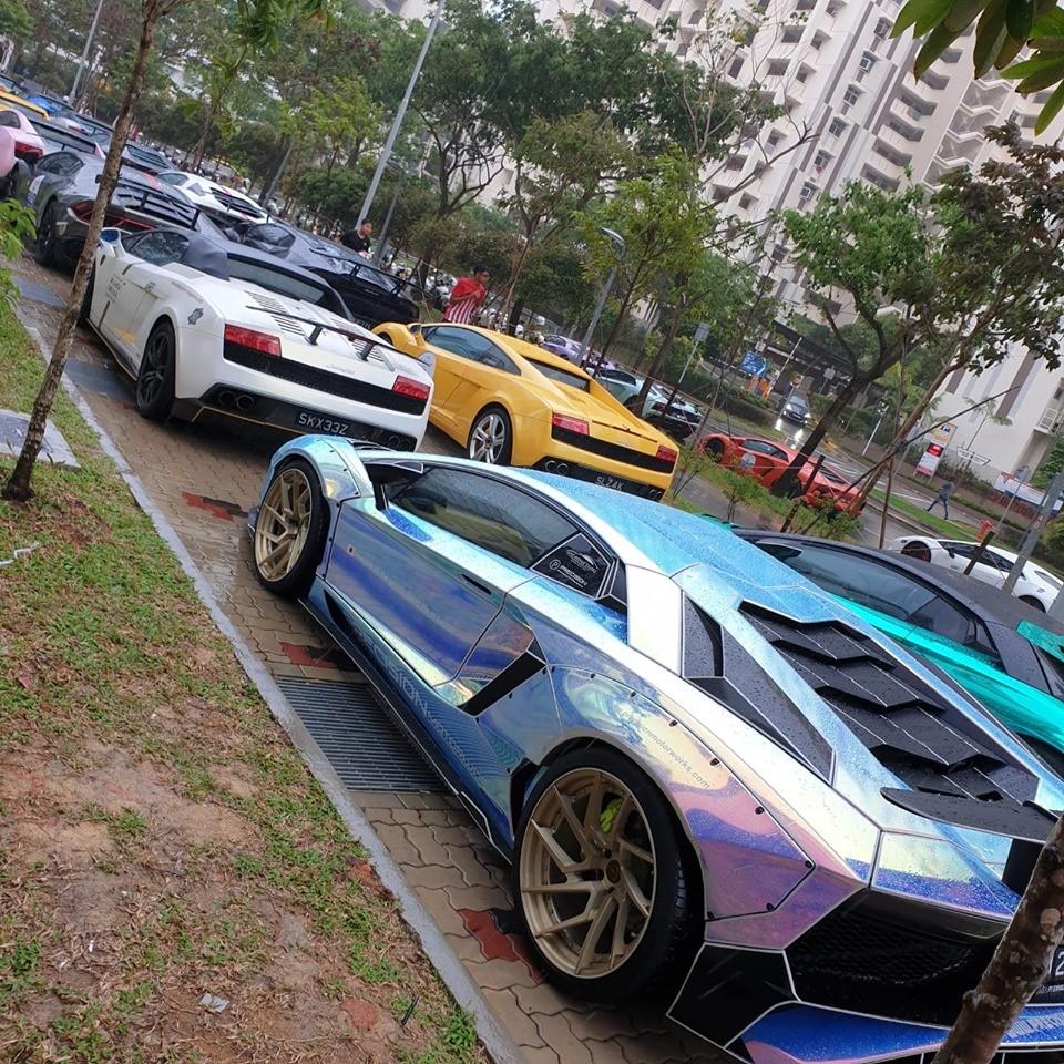 Có 40 siêu xe Lamborghini tham dự vào sự kiện này