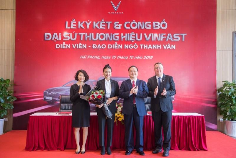 Ngô Thanh Vân chính thức trở thành gương mặt đại diện thương hiệu cho các dòng xe ô tô của VinFast