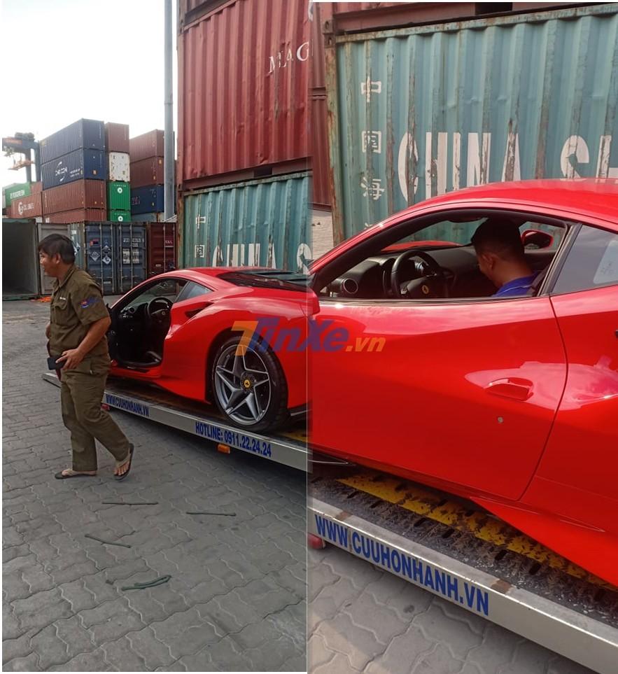 Siêu xe Ferrari F8 Tributo mới về nước sẽ được trưng bày tại ngày khai trương đại lý Ferrari đầu tiên ở Việt Nam vào tối 16 tháng 10